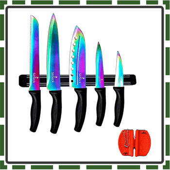 Best Rainbow Colorful Knife Sets