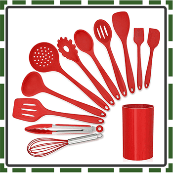 Best Red Utensils Sets for Cooking and Baking