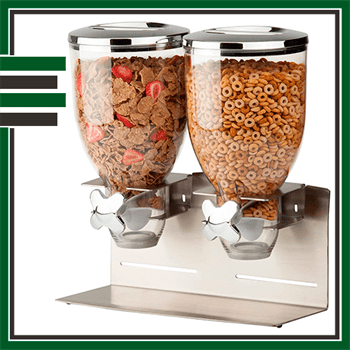 Best Stainless Double Cereal Container
